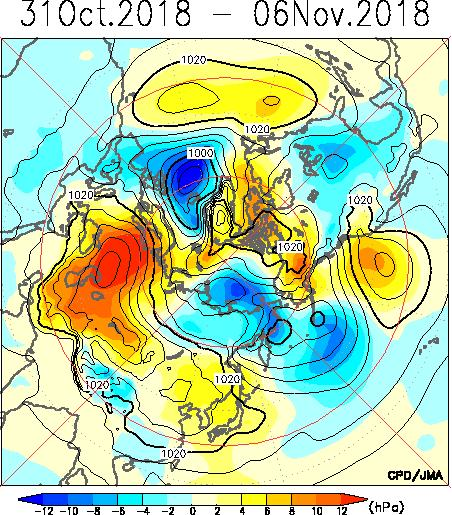 500-hPa Geopotential Height Sea Level Pressure Contours indicate 500-hPa geopotential height. Shading indicates anomaly.