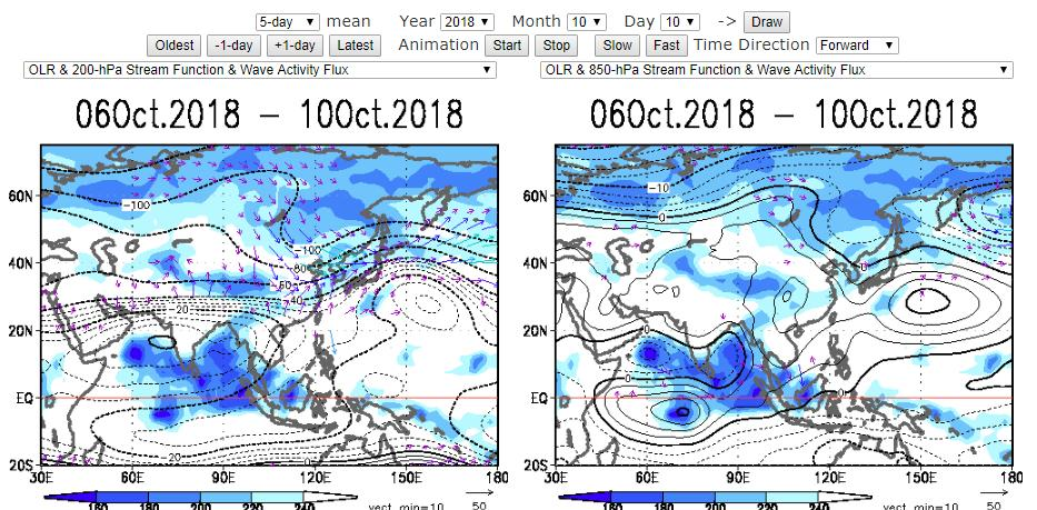 1. Animation Maps (1) Animation Maps web pages provide various analysis charts and are useful to analyze the time evolution of atmospheric circulation and tropical convective activity.