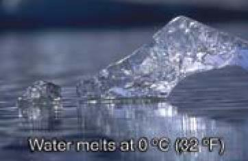 MELTING/FREEZING Melting point: Temperature at which a substance changes from a solid to a liquid.
