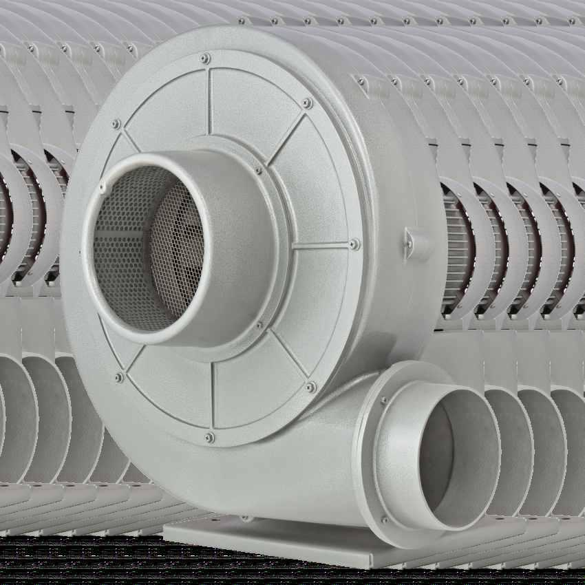 DESCRIPTION Dutair LK-series industrial ventilators consist of a robust body made from die-cast aluminium alloy. Impellers are made of extruded aluminium.