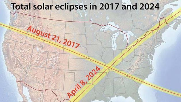 Next Total Solar Eclipse in USA (Texas to Maine): April