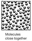 Molecules that are warmer have more energy They move more rapidly and spread far apart This makes warmer air masses