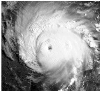 3. Base your answer to the following question on the satellite image below, which shows a Northern Hemisphere hurricane.