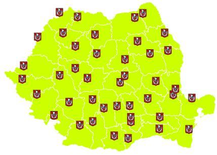 organizations with responsibilities in the field. Fig. 2 below presents local operational centers, active all around Romania territory, with a particular focus on Iaşi County. Fig. 2 IGSU local operational centers (Wikipedia, 2014).