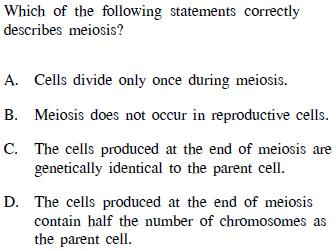 of meiosis how many