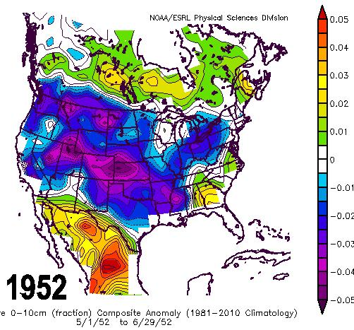 I think 2012 and 2013 are strong candidates, because of the warmth across Canada and 2001 has warmth out west, a good input.