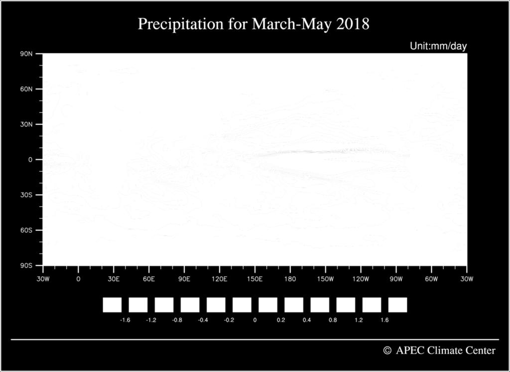 Fig. 8. Deterministic MME seasonal precipitation forecast for March May 2018.