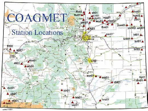 COAGMET Weather Data for Agriculture Automated