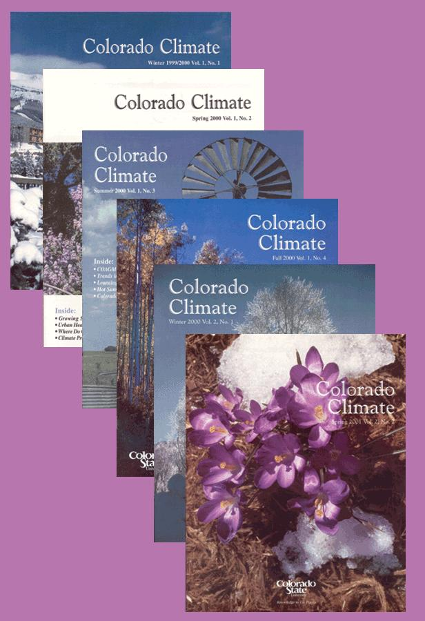 Colorado Climate Magazine Good bedtime reading about the climate of Colorado