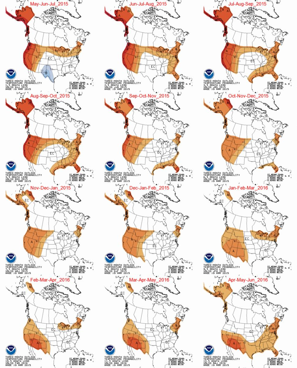NOAA OFFICIAL SEASONAL FORECASTS