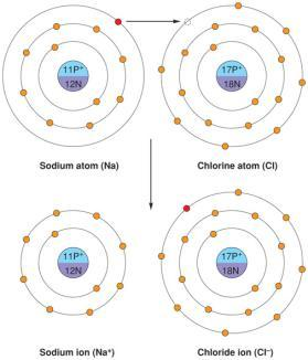 2 0 Covalent Bonds 2-11 2-12 Electrons are transferred from one atom to another One gives