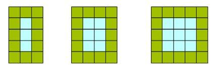 (b) Here are 3 rectangular shapes. How many squares will be on 10 th shape?