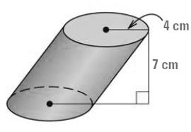 Q22) Cavalieri s Principle says: If two solids have the same height and the same cross-sectional area at every level, then they have the same volume.