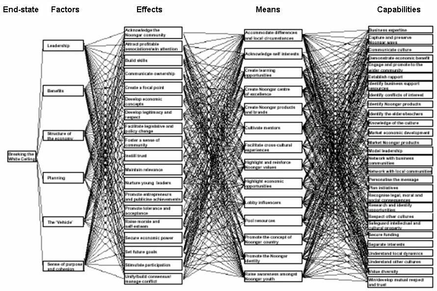 19 Figure 6 Many to many relationships The most interesting area, within EBO, is the linkages between effects and means.
