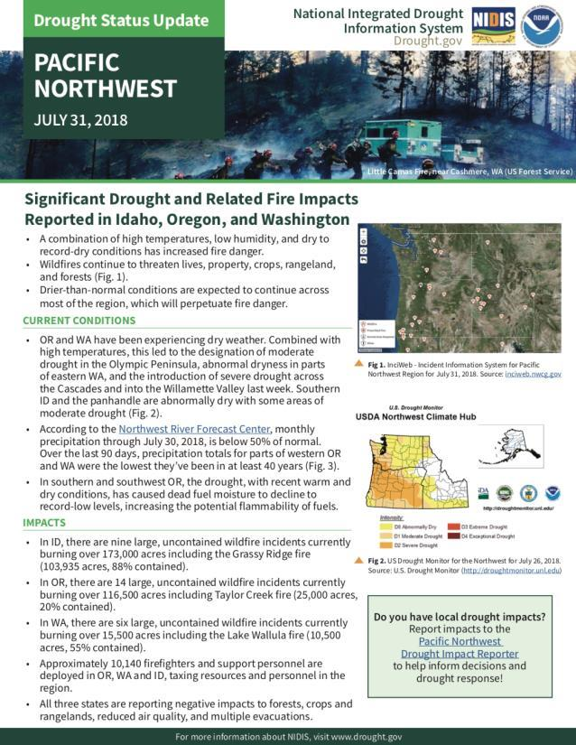 Current Drought Response https://www.drought.