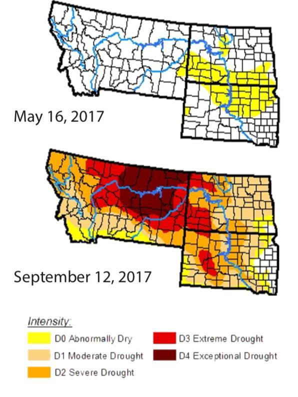 Assessment of the 2017 Northern Plains (S Dakota, N Dakota, Montana) Drought Assessment Goals 1. Understand flash droughts 2.