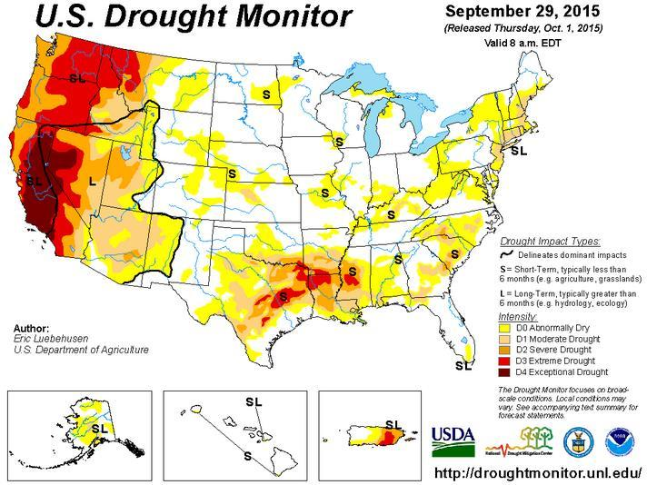 Drought Update The state of Colorado remains drought free but there are abnormally dry