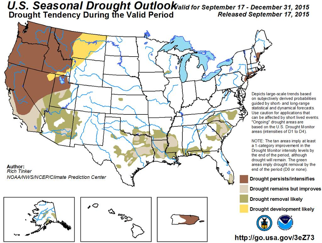 No drought is forecast for Colorado in the near term.