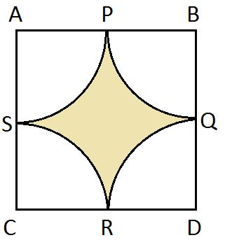 21. Find the area of the shaded region in Fig.