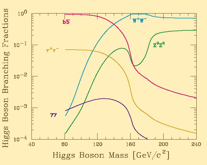 What does Standard Model Higgs decay to?