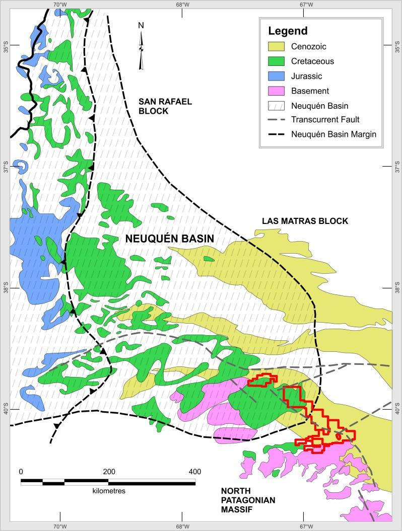 Amarillo Grande Regional Setting Uranium-vanadium mineralization hosted