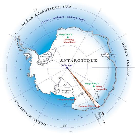 2. East Antarctic Sector AWS in support of Katabatic wind study The AWS deployed from Dumont D'Urville to Dome C will be maintained via a cooperative program with the French polar program, (IFTRP).