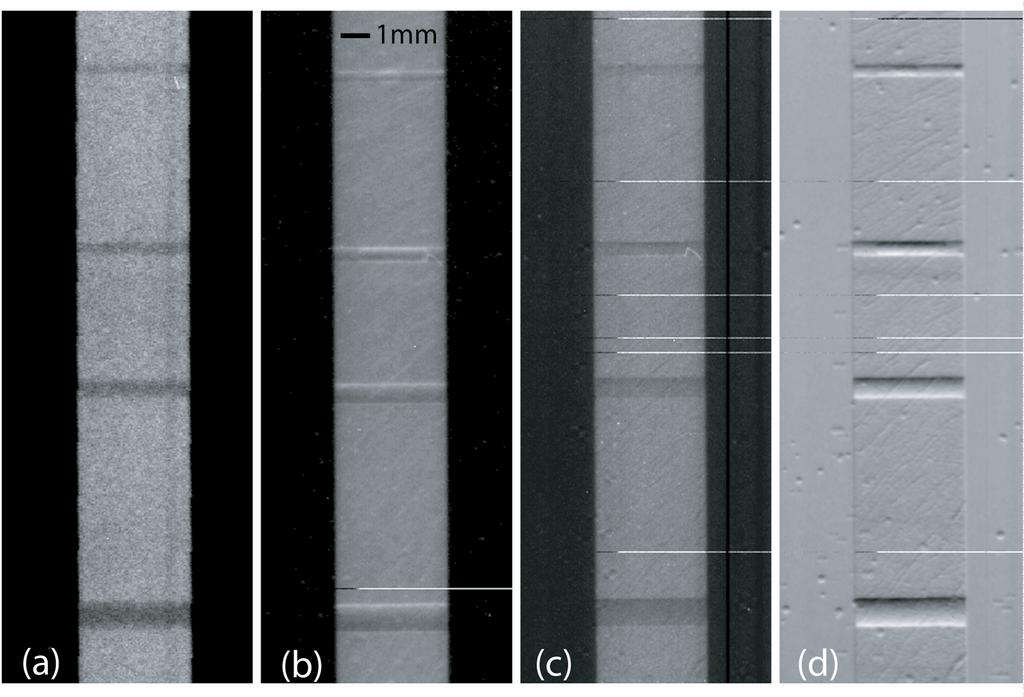 Figure 4.4 Images from the drill hole experiment.
