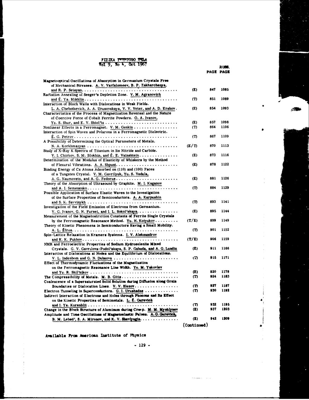 To Approved For Public Release Distribution Unlimited Pdf Tehnike Nauke Integrated Electronics Analog And Digital Circuits Fizikawstrjo Ma Vol Igt Ocn 1967 Rw Page Magnetooptical Oscillations Of Absorption
