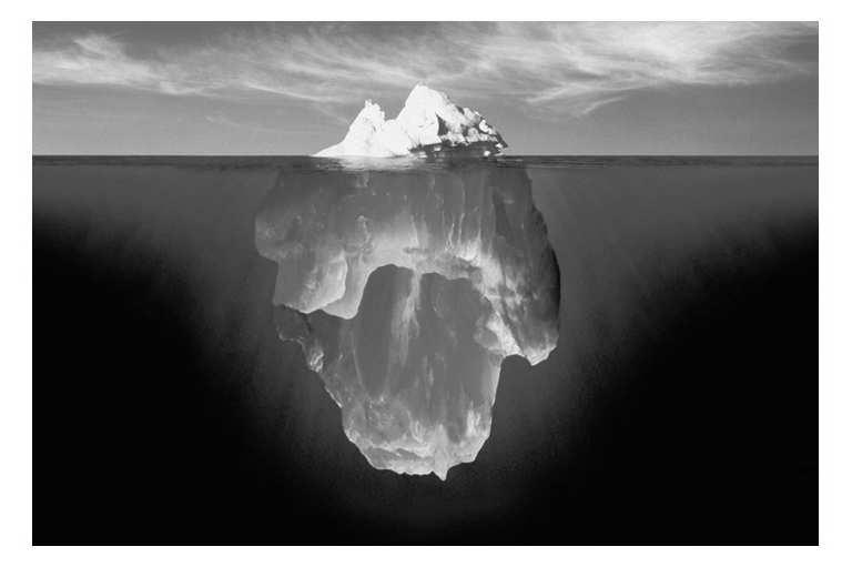 Chapter 15, Fluids This is an actual photo of an iceberg, taken by a rig manager for Global Marine Drilling in St. Johns, Newfoundland.