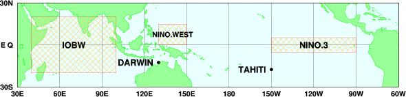 JMA s El Niño Monitoring Areas NINO.WEST NINO.