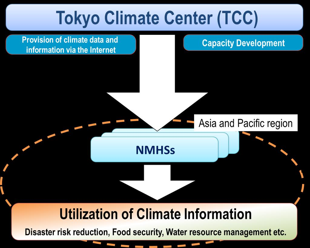TCC supports NMHSs through data/information provision and capacity development