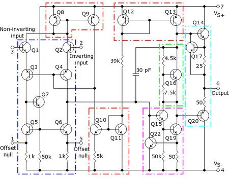 The 741 Operational Amplifier Op-Amp