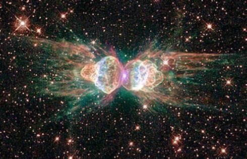 The Ant Nebula, a cloud of dust and gas whose technical name is Mz3, resembles an ant when observed using