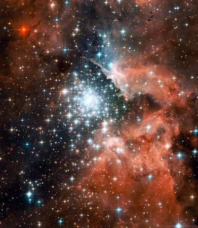 More Hubble Telescope Pics. Thousands of sparkling young stars are nestled within the giant nebula NGC 3603.