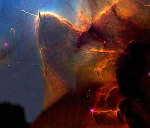 10 The Trifid Nebula: a 'stellar nursery,' 9,000