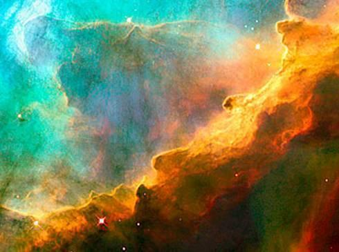 The Perfect Storm, a small region in the Swan Nebula, 5,500 light years away, described