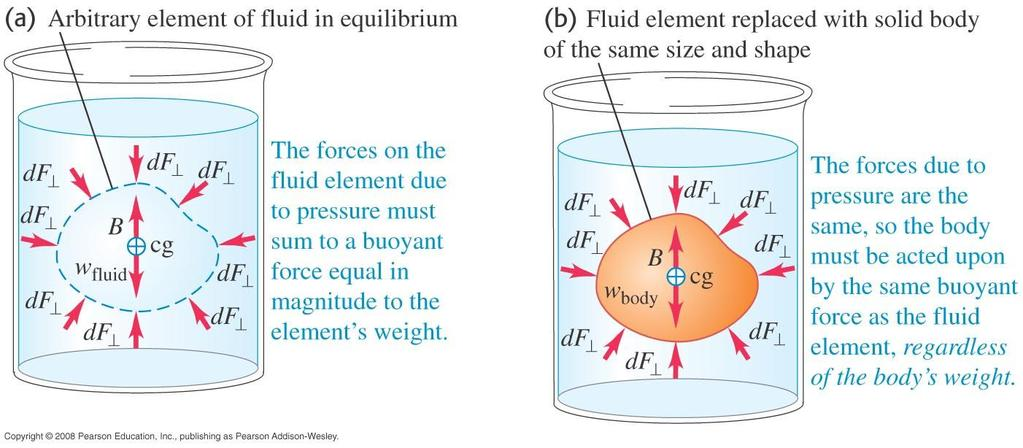Archimedes Principle Archimedes Principle: When a body is completely or partially immersed in a fluid, the fluid exerts an