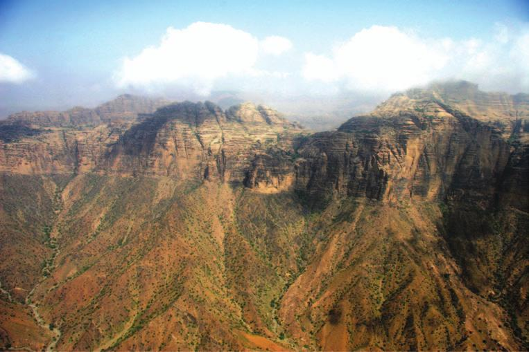 The Kingdom 25 Figure 2.6 Red Sea Escarpment west of Abha (Photo: author). Where well-developed the escarpment is characterised by very steep widyan draining towards the Red Sea.