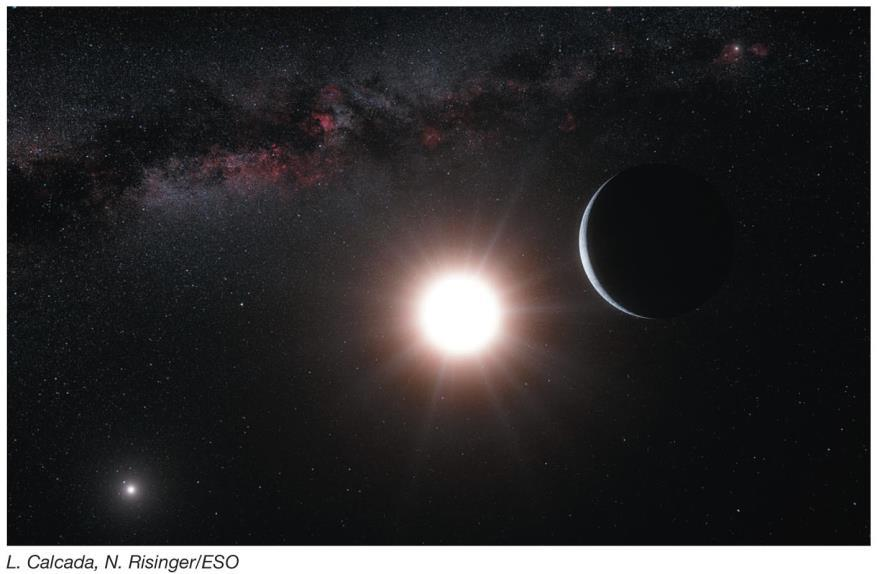 But it is about 25 times closer to its parent stars (Alpha Centauri A and B) than the Earth is to