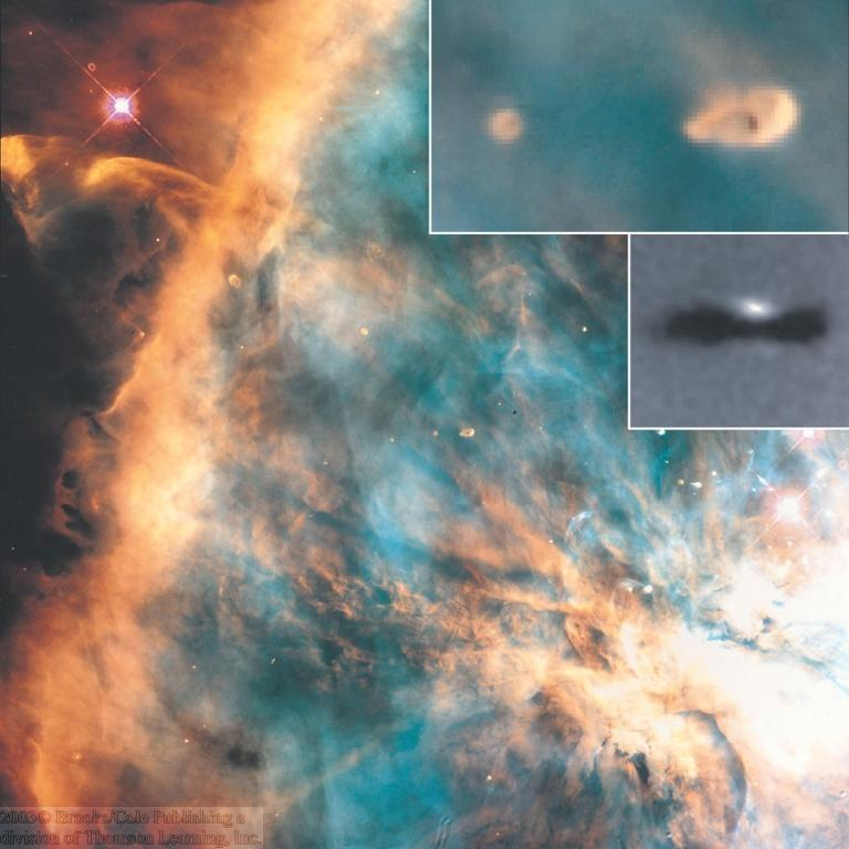Evidence for Ongoing Planet Formation Many young stars in the Orion Nebula are