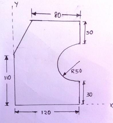 4. Locate the centroid of the area shown in figure below. The dimensions are in mm. 5.