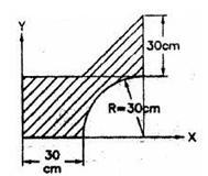 A Cylinder of height of 10 cm and radius of base 4 cm is placed under sphere of radius 4 cm such that they have a common