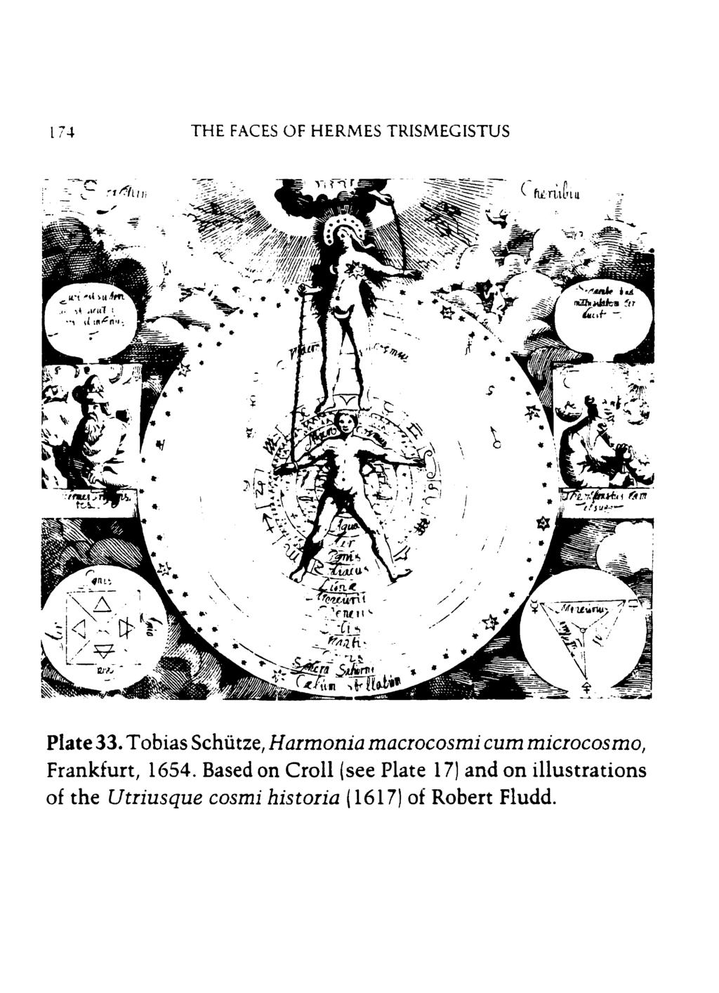 THE FACES OF HERMES TRISMEGISTUS Plate 33. Tobias Schütze, Harmonio macrocosmi cum microcosmo, Frankfurt, 16%.