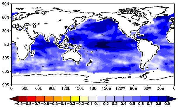 years La Nina like pattern over the