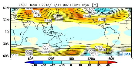 ) FMA Composite map for La Nina years Positive anomalies are