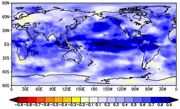 2m Temperature (TS) Forecast Map for FMA