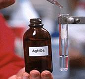 Observations 1. Add 5 M NH 3 to 10 ml of 0.1 M AgNO 3. = clear and colorless solution Ag + bonds to NH 3 = [Ag(NH 3 ) 2 ] + 2.