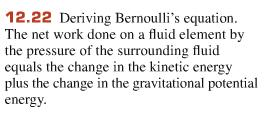 5 Bernoulli s Principle (1738) Bernoulli s principle results from conservation of energy.