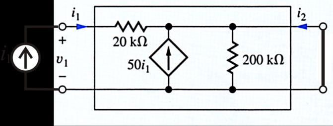 Question 3 Determine the h 11 and h 21 parameters for the circuit. Be sure to supply the units and proper sign for each parameter.