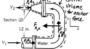 24) The open tank in the Fig. 24 contains water at 20 C.